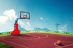 Jogos Olímpicos do basquetebol Imagens de Stock Royalty Free