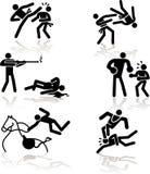 Jogos Olímpicos do humor - 4 ilustração stock