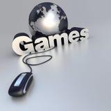 Jogos onlines Imagem de Stock Royalty Free