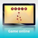 Jogos onlines video do pôquer Imagem de Stock Royalty Free