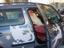 Jogos tradicionais de Papai Noel em Carélia, Rússia Foto de Stock Royalty Free