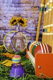 Jogos verticais de Autumn Croquet e do badminton Foto de Stock