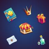 Jogos video da Web dos elementos ajustados móveis doces do GUI do mundo Fotografia de Stock