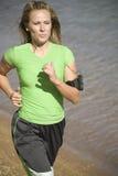 jogs muzycznej kobiety Zdjęcia Stock