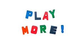 Jogue mais na vida imagens de stock royalty free