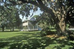 Jogue a mansão, casa de Major Robert Gamble, seja a única casa da plantação da sobrevivência em Florida sul, Ellenton, Florida imagem de stock
