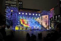 Jogue-me na casa histórica Sydney Australia de alfândega durante vívido Fotos de Stock