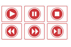 Jogue, pause, parada e o outro botão Foto de Stock