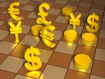Jogue seu dinheiro Foto de Stock