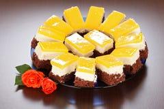 Jogurtów torty zdjęcie stock