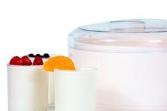Jogurt με τα φρούτα Στοκ Εικόνες