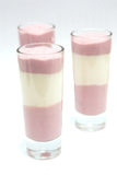 Jogurt deserowa borówka Obrazy Royalty Free