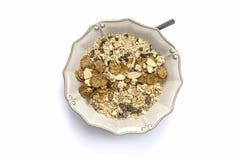 Jogurt und Getreide Stockbild
