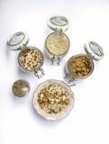 Jogurt und Getreide Stockbilder