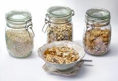 Jogurt und Getreide Lizenzfreie Stockbilder