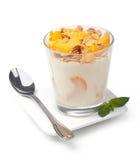 Jogurt z muesli zdjęcia royalty free
