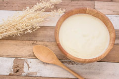 Jogurt z śniadaniem Obraz Stock