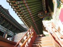 Jogyesa Buddhist Temple - Seoul South Korea. Roof outlines at Jogyesa Buddhist Temple in Seoul, South Korea Stock Image