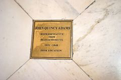 Joh Quincy Adams-` Schreibtisch Lizenzfreies Stockfoto