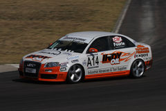 Johan Fourie. In his Audi Quattro. Johan won the Westbank Super Series, Production cars in 2008. Photo taken at the Zwartkops leg on the Championship on 6 stock photography