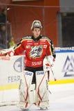 Johan Gustafsson - Ice Hockey Goalie stock photo