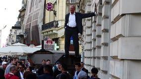 Johan Lorbeer en la semana de la comedia de Bucarest almacen de video