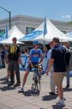 Johan Van Summeren 2013 Amgen Tour of CA. Johan Van Summeren of Garmin-Sharp team at the start Stage 1 of the 2013 Amgen Tour of California in Escondido Royalty Free Stock Photo