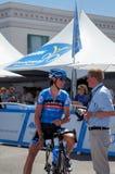 Johan Van Summeren 2013 Amgen Tour of CA. Johan Van Summeren of Garmin-Sharp team at the start Stage 1 of the 2013 Amgen Tour of California in Escondido Royalty Free Stock Images