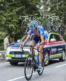 Johan Vansummeren on Col du Tourmalet - Tour de France 2014 Royalty Free Stock Image