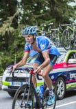 Johan Vansummeren op Col. du Tourmalet - Ronde van Frankrijk 2014 Stock Afbeelding