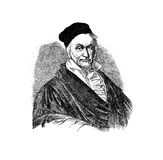 Johann Carl Friedrich Gauss,  German mathematician  engraving. Portrait of Johann Carl Friedrich Gauss 30 April 1777 -  23 February 1855  German the greatest Royalty Free Stock Images