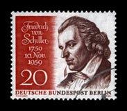 Johann Christoph Friedrich von Schiller berömd tysk poet, filosof, läkare, historiker, Tyskland, circa 1959, royaltyfria bilder