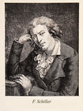 Johann Christoph Friedrich von Schiller, engraving portrait Stock Photos