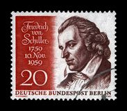 Johann Christoph Friedrich von Schiller, poète allemand célèbre, philosophe, médecin, historien, Allemagne, vers 1959, images libres de droits