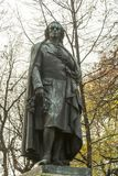 Friedrich von Schiller monument in Munich, Germany. Johann Christoph Friedrich von Schiller was a German poet, philosopher, physician, historian, and playwright Stock Photo