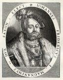 Johann Friedrich Der Grossmtig, John Frederick Ι στοκ φωτογραφία