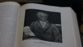 Johann Goethe es un gran retrato alemán del escritor almacen de video