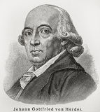 Johann Gottfried Herder Royalty Free Stock Images