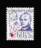 Johann Gregor Mendel 1865-1965, Culturele verjaardagen en vooravond vector illustratie