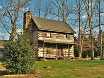 Johann Jacob Log Home. Located in Central Park in King, North Carolina, this cabin was built in 1774 by immigrant Johann Jacob and his wife Anna Catherine.  They Royalty Free Stock Photos