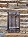 Johann Jacob Log Home Shuttered Window image stock