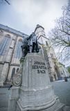 Johann Sebastian Bach monument i Leipzig royaltyfria foton