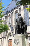 Johann Sebastian Bach statue in Leipzig, Germany Royalty Free Stock Images