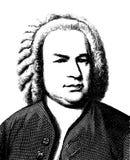 Johann Sebastian Bach. Vector graphic style illustration portrait of the great german musician and composer Johann Sebastian Bach. High quality full Editable eps Stock Photo