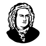 Johann Sebastian Bach Vektorporträt von Mark Twain vektor abbildung