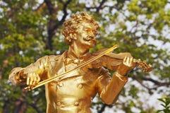 Johann Strauss. Statue of Johann Strauss  in Vienna Royalty Free Stock Images