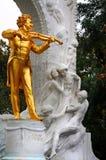 Johann Strauss-beeldhouwwerk in Wenen royalty-vrije stock afbeeldingen