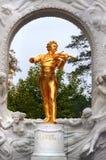 Johann Strauss-beeldhouwwerk in Wenen royalty-vrije stock foto's