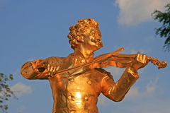 Johann Strauss figure in Vienna Stadtpark Stock Image