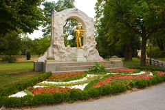 Johann Strauss Golden Statue Stock Photography